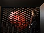 Kinetic art installation.  Dynamic wall by ARCHITIME design group