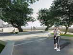 Parco urbano con area attrezzata polifunzionale