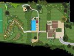 Progettazione paesaggistica del parco  di una villa moderna nelle campagne marchigiane