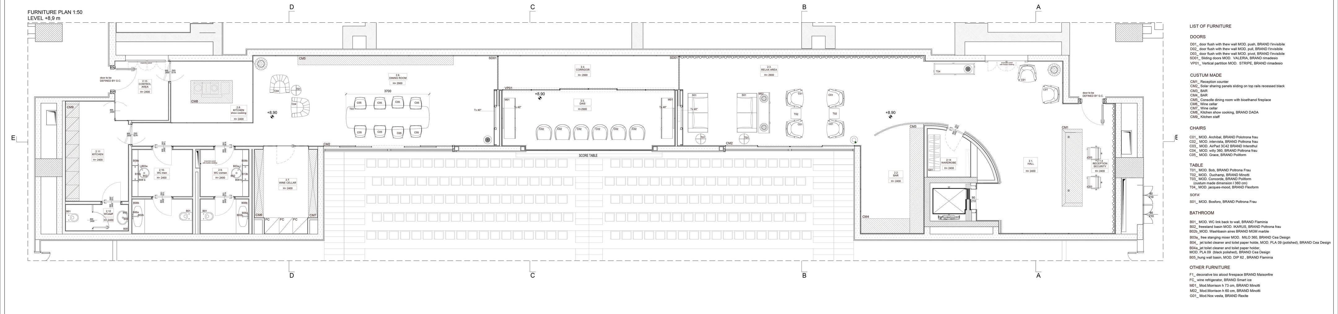 Progetto Casa 85 Mq vip lounge stadium badminton   dotti pasini architetti