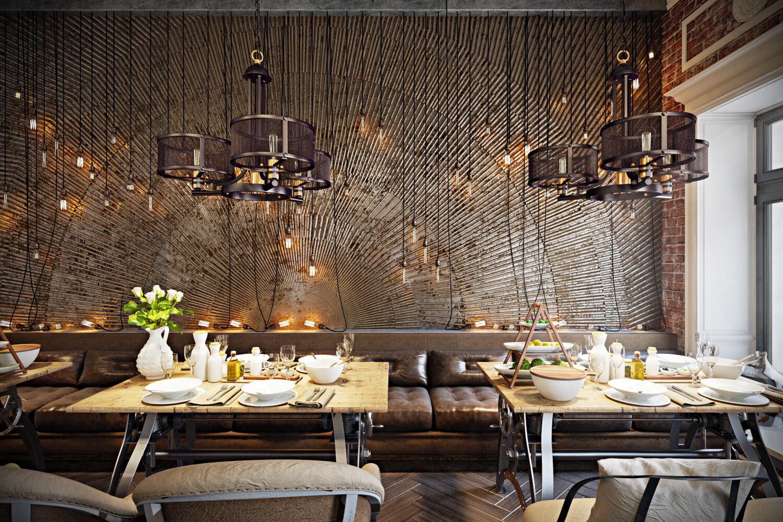 Stunning Restaurant Interior Design The Chic Of Original Archicgi