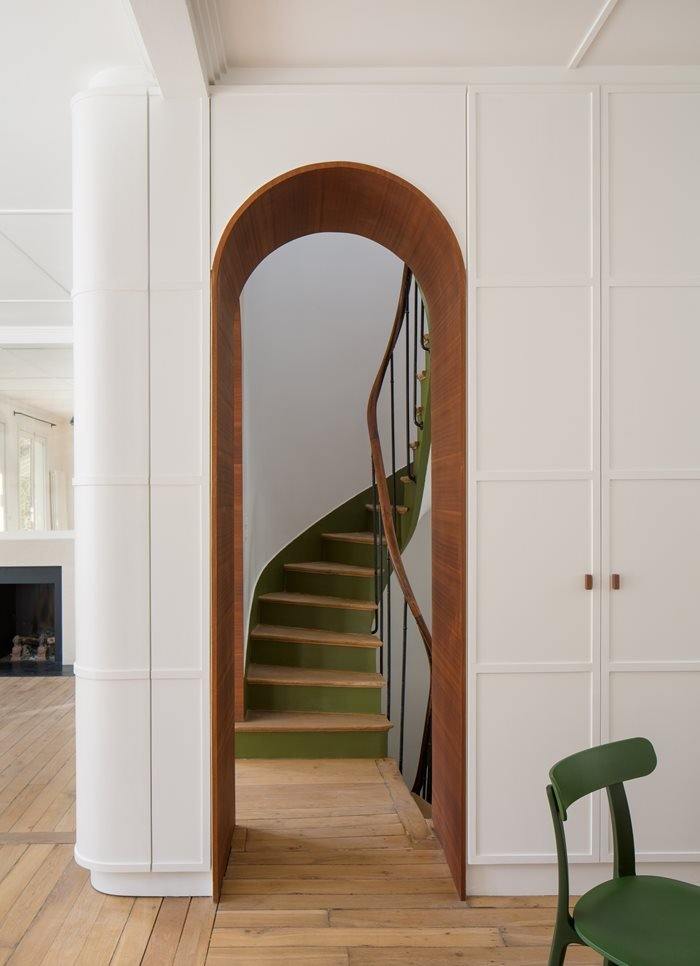 Complete transformation for a house,  Paris XVII