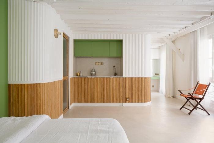 Complete transformation for an apartment,  Paris VI