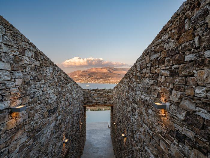 Encaved Stone Villa in Antiparos Island