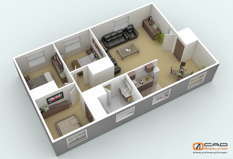 Offshore Architectural 3d Floor Plans And House Design