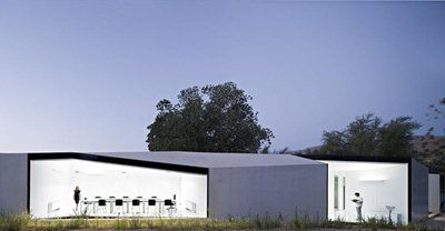 A Biodiversity Centre which blends in with the agricultural landscape