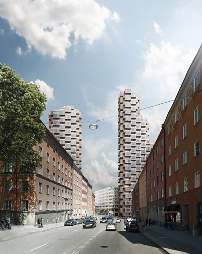OMA has won the design competition for Tors Torn in Stockholm