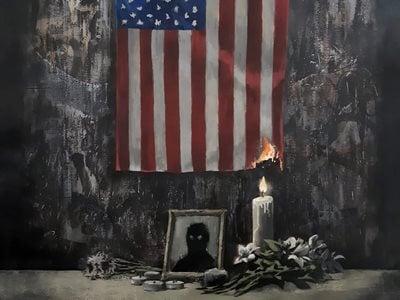Banksy Dedicates artwork to George Floyd Protests