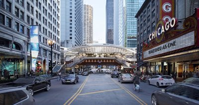 SOM and TranSystems redesign one of the oldest stations in Chicago's elevated rail network