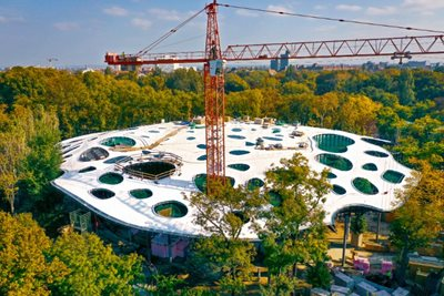 House of Hungarian Music by Sou Fujimoto near to completion