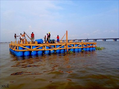 Makoko Floating School in Lagos designed by NLÉ architects