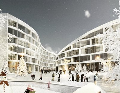 When architecture exploits the potential of snow