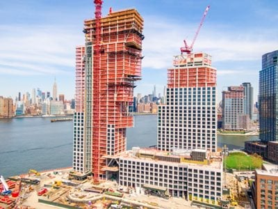 Brooklyn,  OMA/Jason Long's Towers Tops Out