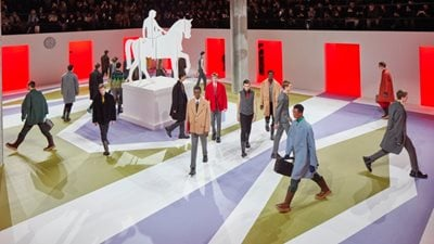 AMO creates 'Surreal Classic'set for Prada's FW20 show