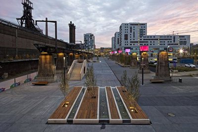 LUX – the post industrial square designed by AllesWirdGut