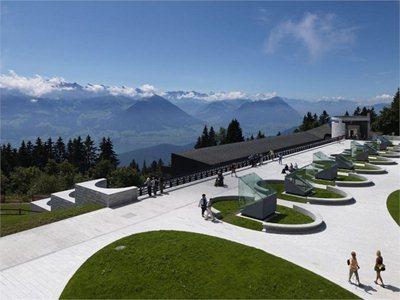 Mario Botta's 'mineral garden' for Rigi Kaltbad