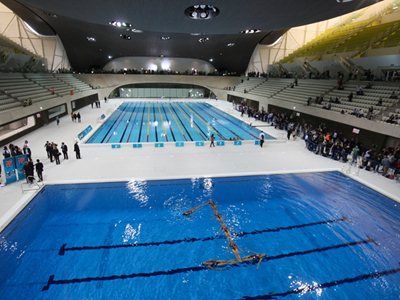 Zaha Hadid's London 2012 Aquatic centre opens to the public