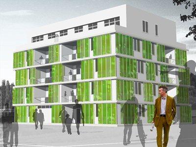 Micro-algae prove ideal for making green facades