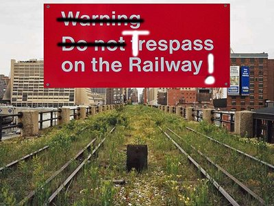 """Do not trespass on the railway"": an old-fashioned deal!"