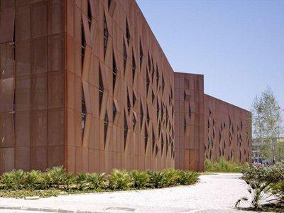 Raif Dinçkök Cultural Center: shades of Corten steel