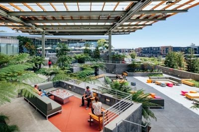 Facebook revealed its expanded Menlo Park Campus designed by Frank Gehry