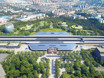 "MAD Unveils Jiaxing's ""Train Station in the Forest"""