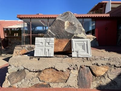 Frank Lloyd Wright inspired textile bocks & 3D cement tiles available