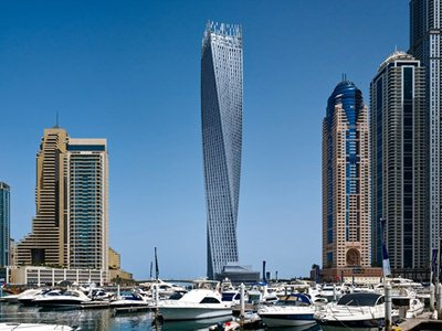 SOM's Cayan (formerly Infinity) Tower opened