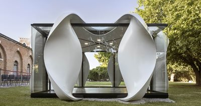 The 'High-performing Urban Ecologies' installation by Zaha Hadid Architects