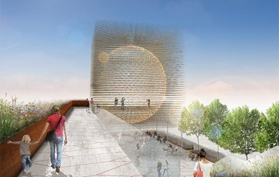Prince Harry announces  the winner of the UK Pavilion Milan Expo