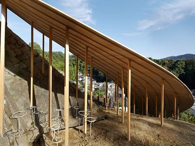 The Roof and Mushrooms pavilion in Kyoto