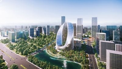 Oppo's O-Tower by BIG: an infinity loop on the Hangzhou horizon