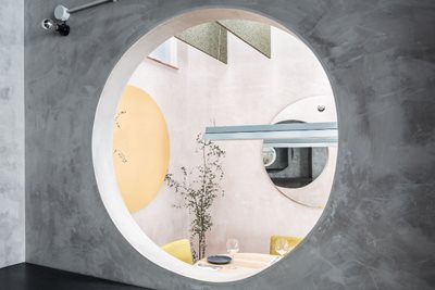 Concrete, Pastel Hues and Circles