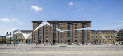 Felice Varini 'Across the Buildings' at King's Cross