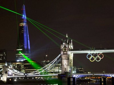 The Shard Opening, Spectacular Laser Show