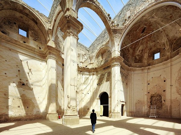 Huge skylight church ferran vizoso | architecture