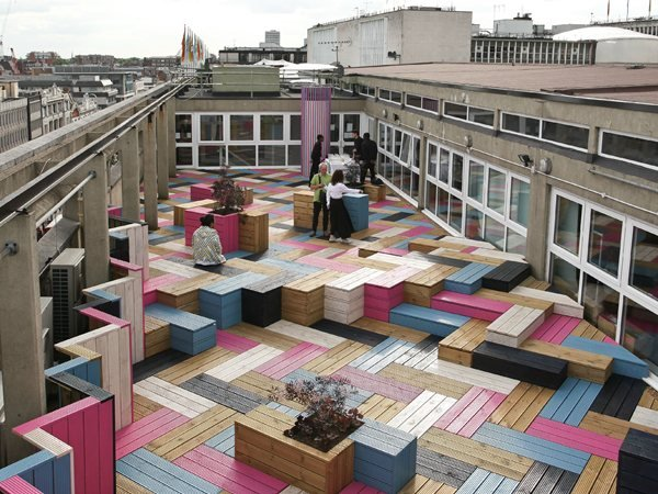London College of Fashion Rooftop Studio Weave