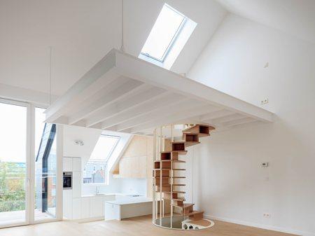 Double OlmO staircase in a brand new loft JOA interior design