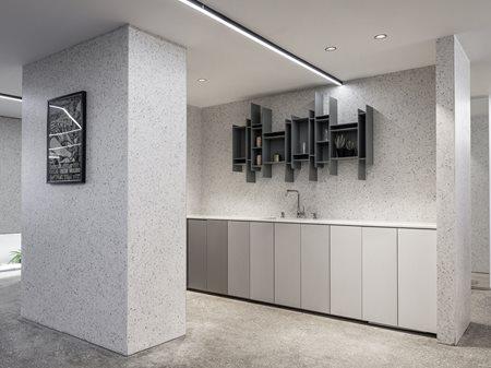 The terrazzo concrete office Tal Goldsmith Fish design studio