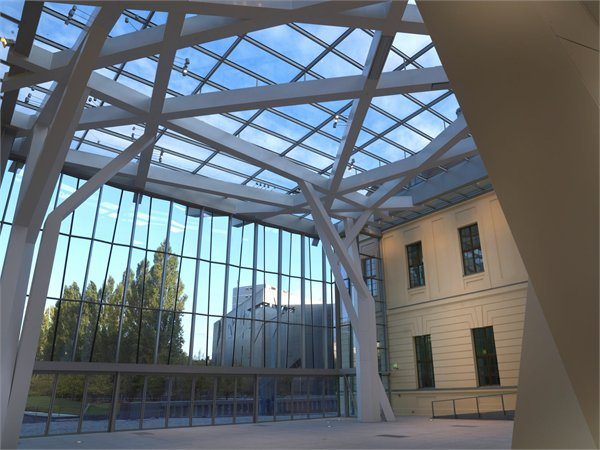 Glass Courtyard Studio Libeskind