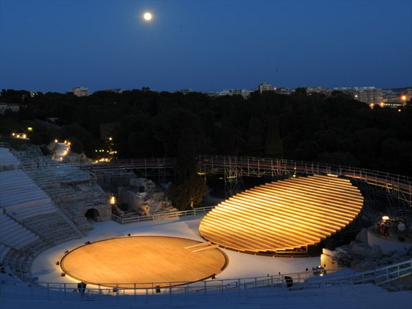 Stage set for ancient Greek theatre in Syracuse OMA - Office for Metropolitan Architecture