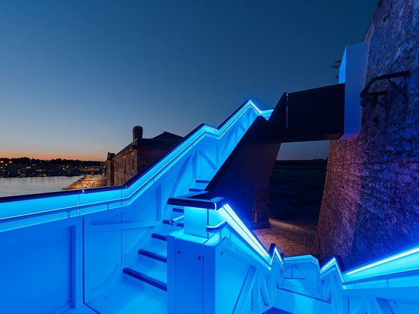 Coast Path Staircase at Royal William Yard Gillespie Yunnie Architects